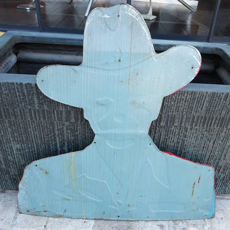 Hopalong Cassidy 1950s Tin Sign for Bond Bread For Sale 1