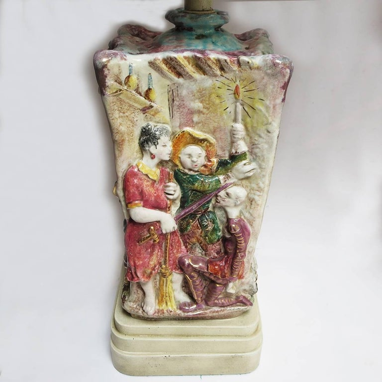 These wonderful lamps depict scenes from