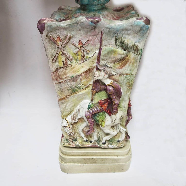 Mid-Century Modern Midcentury Don Quixote Ceramic Table Lamps For Sale