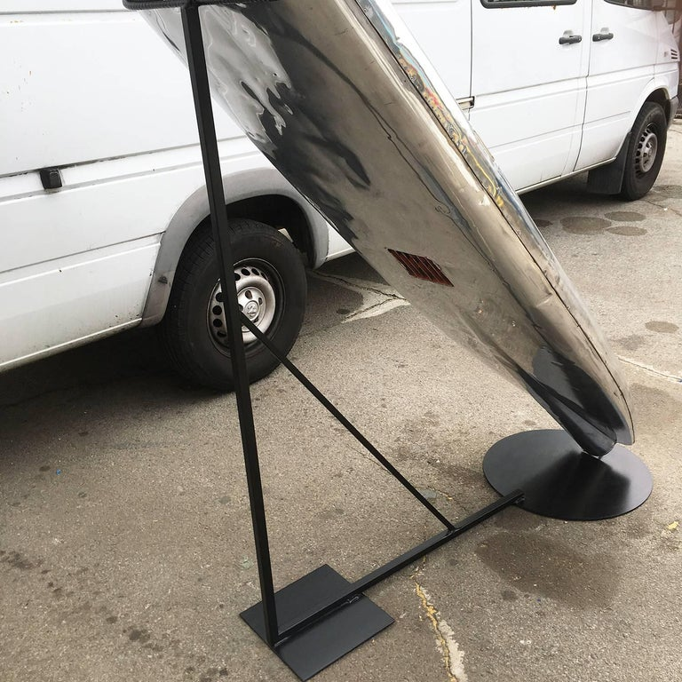 Jet Board Motorized, 1960s Polished Surfboard In Excellent Condition For Sale In Los Angeles, CA