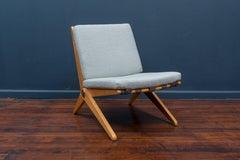 Pierre Jeanneret Scissor Chair for Knoll International, 1957