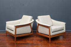 Danish Teak Lounge Chairs by Folks Ohlsson