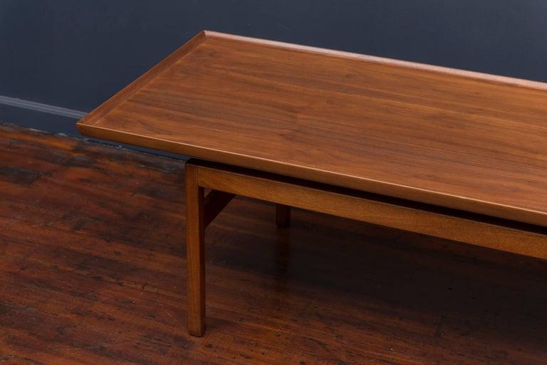 Mid-Century Modern Jens Risom Mid Century Walnut Coffee Table For Sale