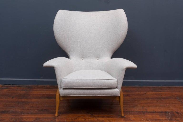 Scandinavian Modern Swedish Mid Century Lounge Chair For Sale