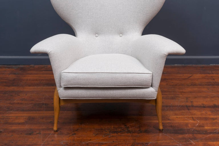 Swedish Mid Century Lounge Chair For Sale 4