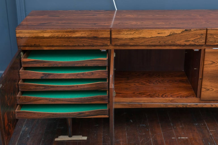 Scandinavian Modern I.B Kofod-Larsen Rosewood Credenza For Sale