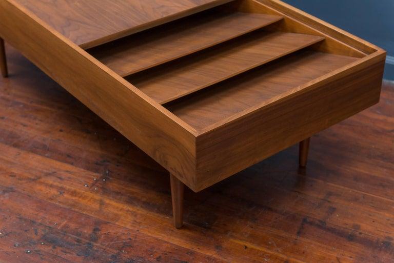 Walnut Milo Baughman Mid Century Coffee Table for Glennn of California For Sale