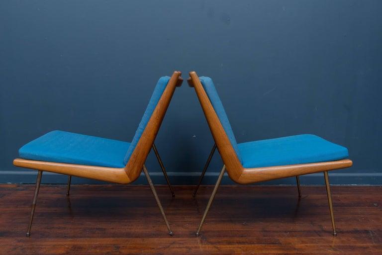 Scandinavian Modern Peter Hvidt & Orla Morgaard Nielsen Bommerang Lounge Chairs For Sale