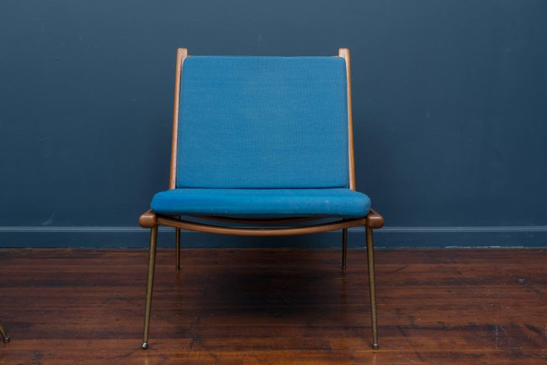 Mid-20th Century Peter Hvidt & Orla Morgaard Nielsen Bommerang Lounge Chairs For Sale