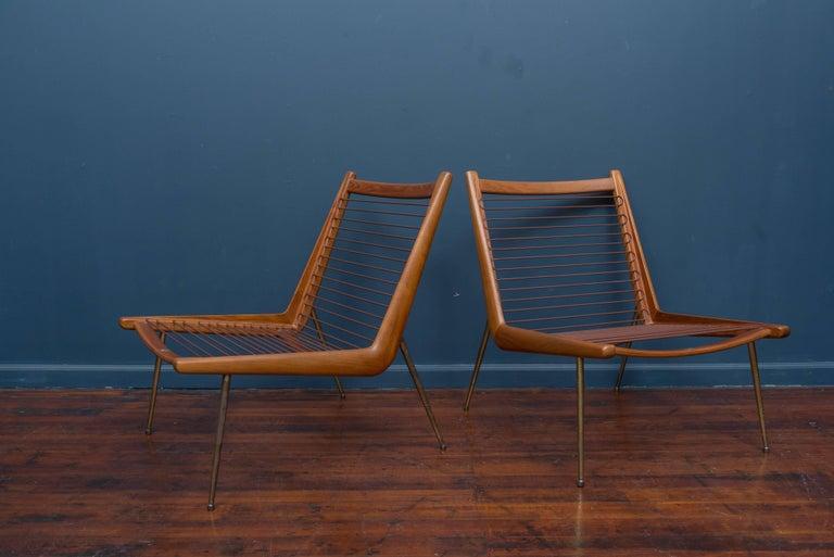 Teak Peter Hvidt & Orla Morgaard Nielsen Bommerang Lounge Chairs For Sale