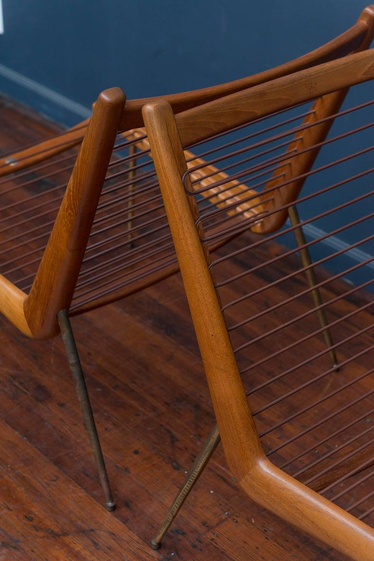 Peter Hvidt & Orla Morgaard Nielsen Bommerang Lounge Chairs For Sale 2
