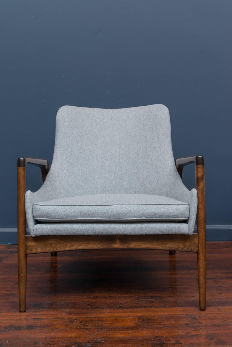 Oak Ib Kofod-Larsen Lounge Chairs For Sale