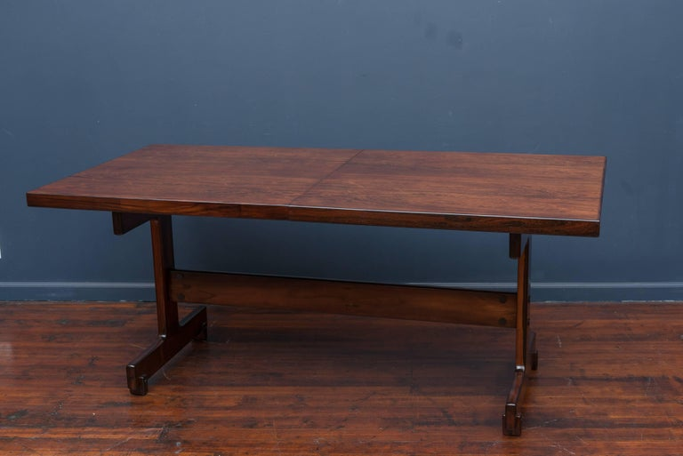 Brazilian Sergio Rodrigues Extension Dining Table For Sale