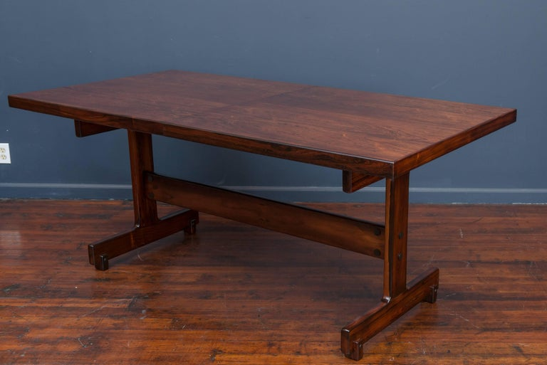 Late 20th Century Sergio Rodrigues Extension Dining Table For Sale