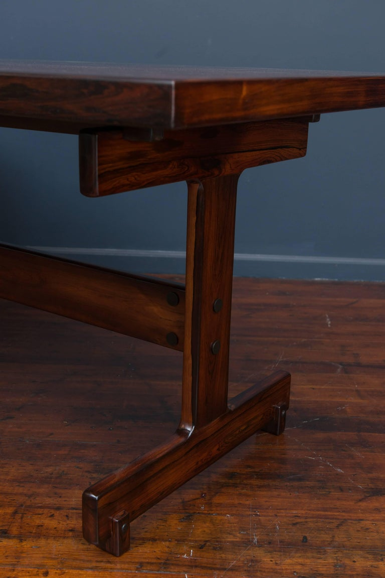 Rosewood Sergio Rodrigues Extension Dining Table For Sale