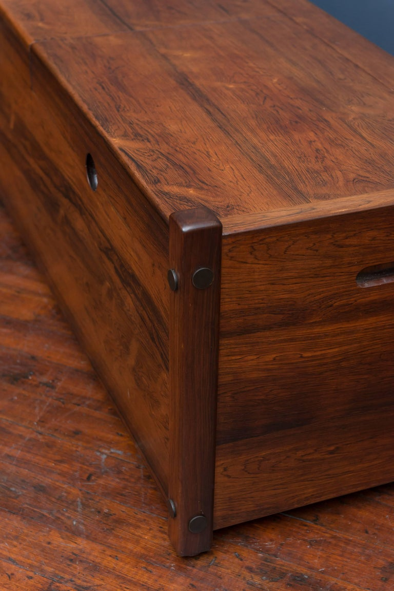 Sergio Rodrigues Rosewood Chest or Trunk For Sale 1