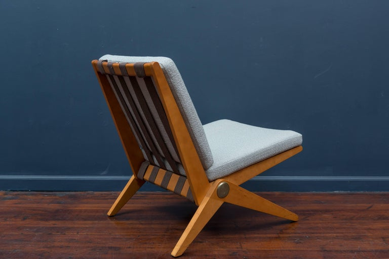 French Pierre Jeanneret Scissor Chair for Knoll International, 1957 For Sale