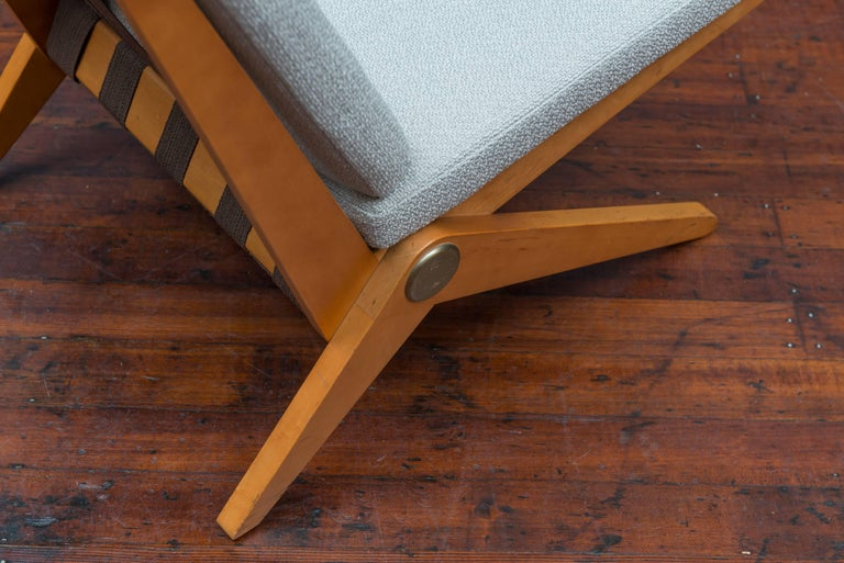 Pierre Jeanneret Scissor Chair for Knoll International, 1957 In Excellent Condition For Sale In San Francisco, CA