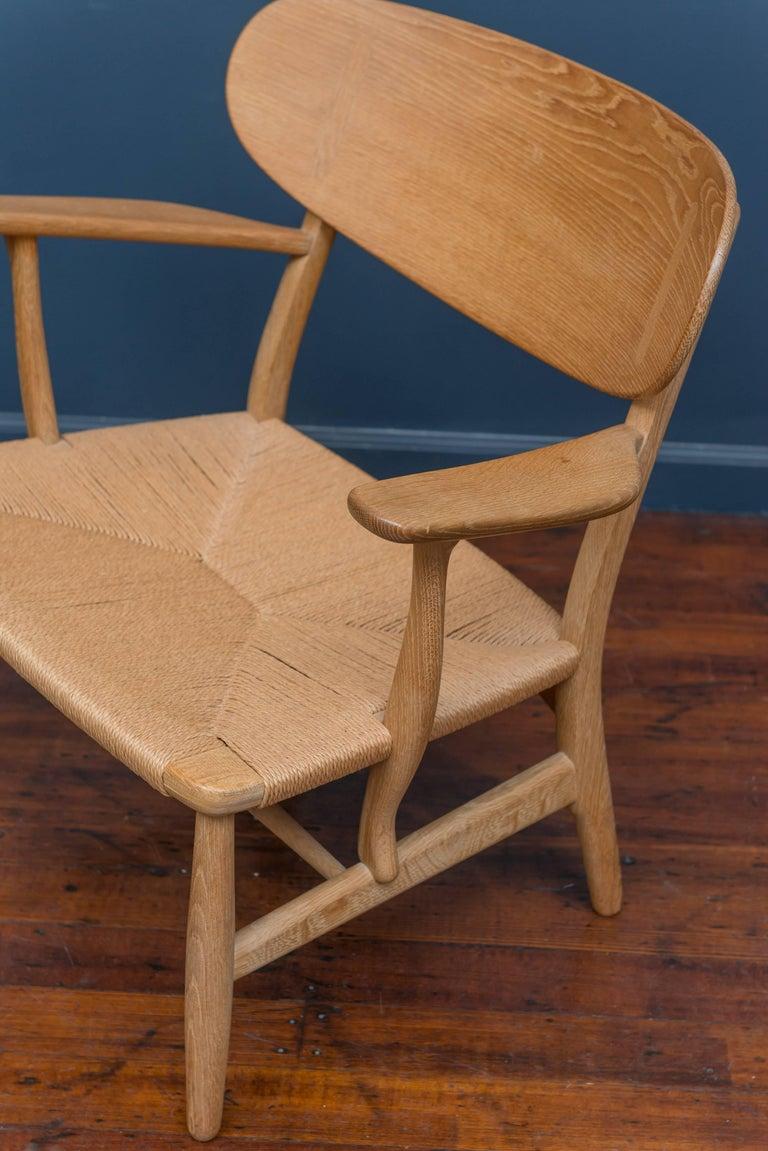 Scandinavian Modern Hans Wegner CH 22 Easy Chair For Sale