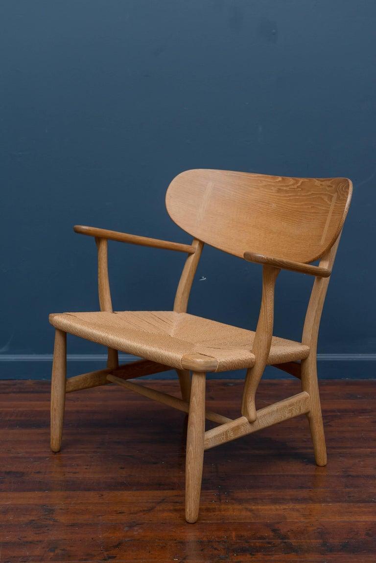 Danish Hans Wegner CH 22 Easy Chair For Sale