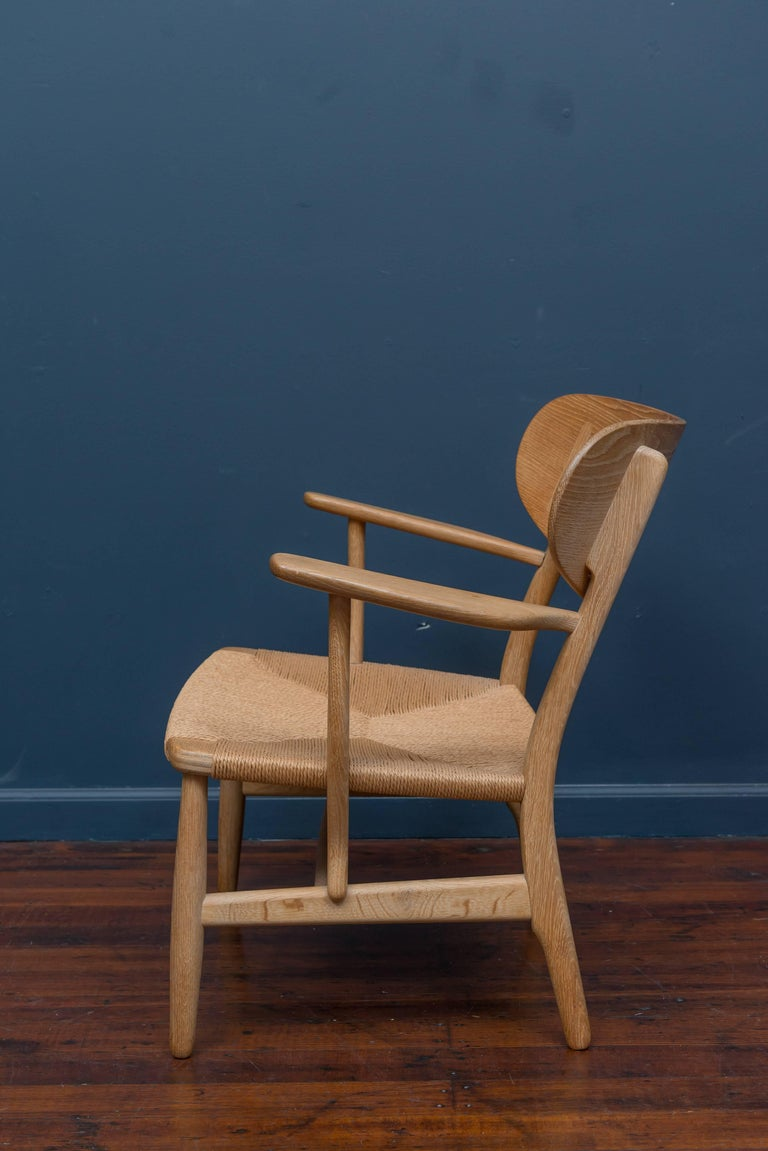Hans Wegner CH 22 Easy Chair In Excellent Condition For Sale In San Francisco, CA