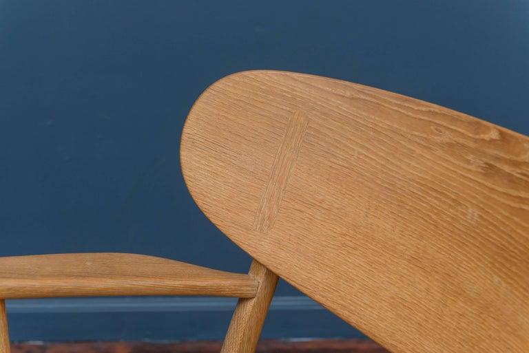 Oak Hans Wegner CH 22 Easy Chair For Sale