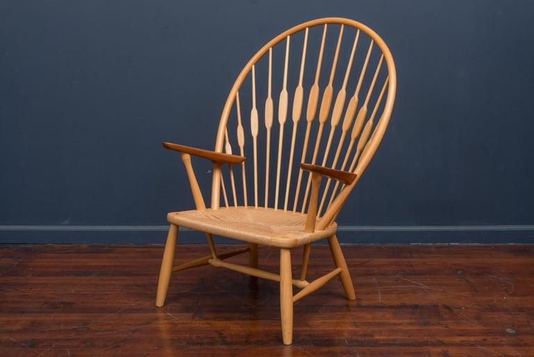 Scandinavian Modern Hans Wegner Peacock Chair for Johannes Hansen For Sale