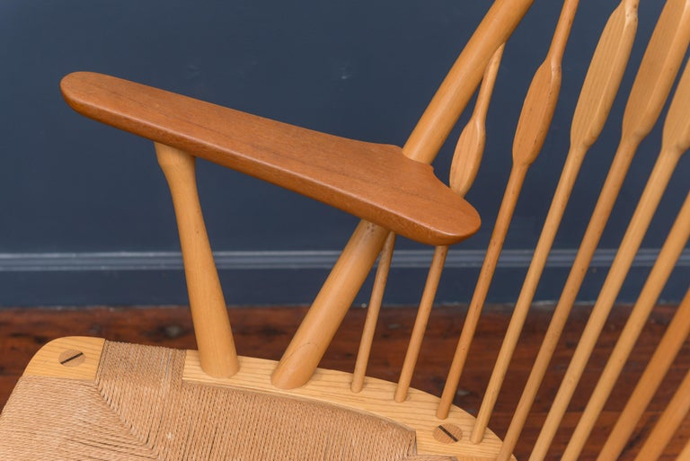 Hans Wegner Peacock Chair for Johannes Hansen In Excellent Condition For Sale In San Francisco, CA