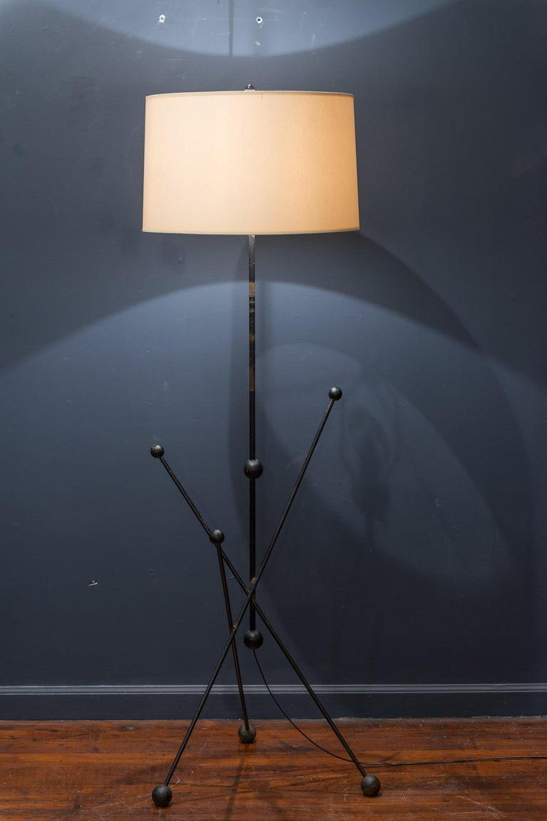 Midcentury French Floor Lamp In Good Condition For Sale In San Francisco, CA