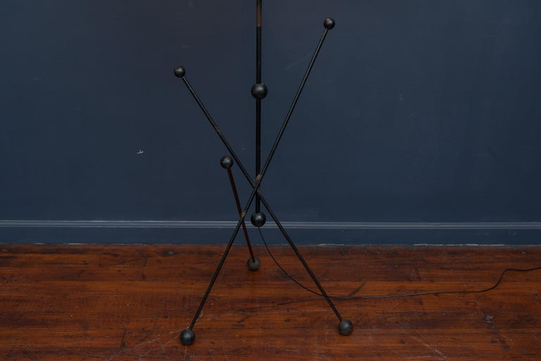 Metal Midcentury French Floor Lamp For Sale