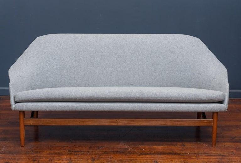 Scandinavian Modern Ib Kofod Larsen Settee for Carlo Garhn For Sale