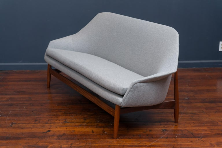 Ib Kofod Larsen Settee for Carlo Garhn In Excellent Condition For Sale In San Francisco, CA