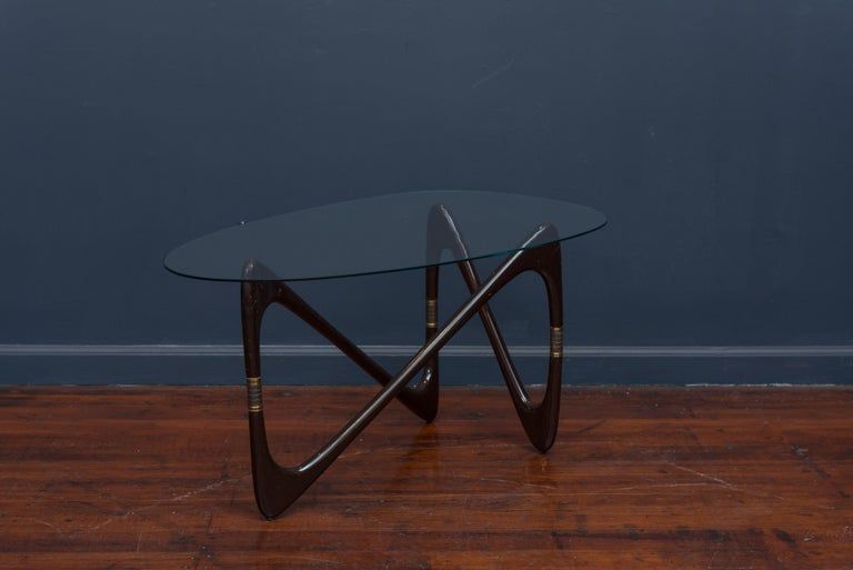 Mid-20th Century Cesare Lacca Coffee Table, Italy For Sale