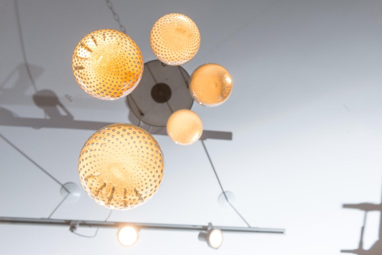 Gino Sarfatti and Archimede Seguso Chandelier for Lightolier In Excellent Condition For Sale In San Francisco, CA