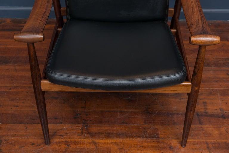 Danish Finn Juhl Rosewood Spade Chair Model FD133 For Sale