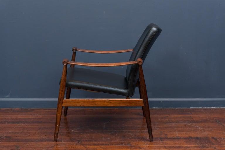 Finn Juhl Rosewood Spade Chair Model FD133 For Sale 1