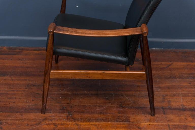 Finn Juhl Rosewood Spade Chair Model FD133 For Sale 2