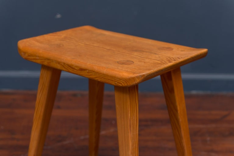 Carl Malmsten Stool In Good Condition For Sale In San Francisco, CA