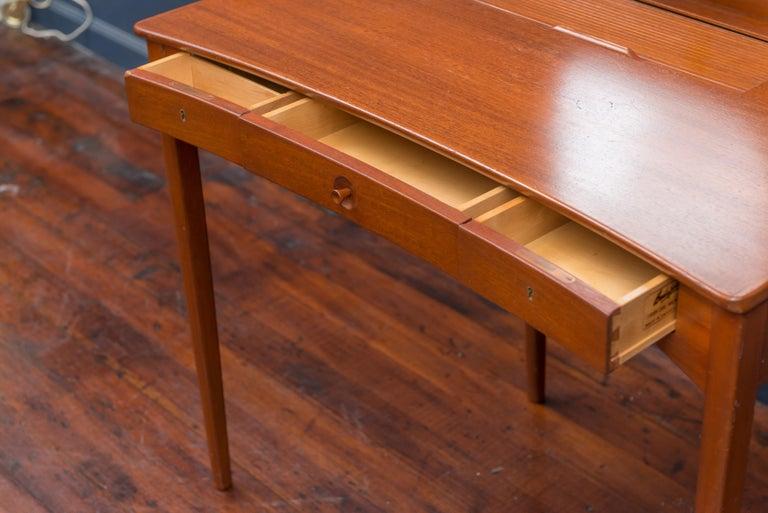 Scandinavian Modern Carl Malmsten Vanity Table with Mirror For Sale
