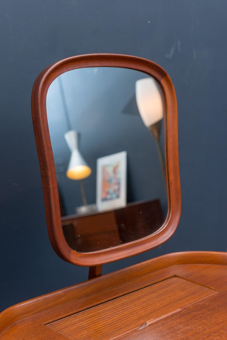 Mid-20th Century Carl Malmsten Vanity Table with Mirror For Sale