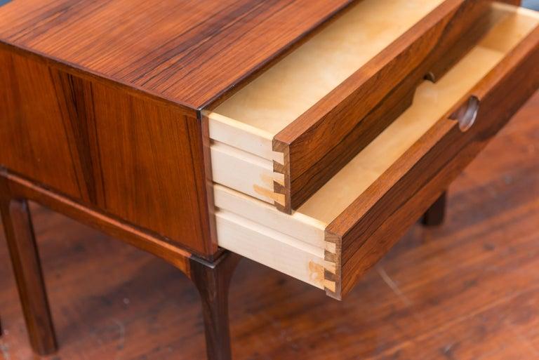 Askel Kjersgaard Danish Rosewood Nightstands for Odder In Excellent Condition For Sale In San Francisco, CA