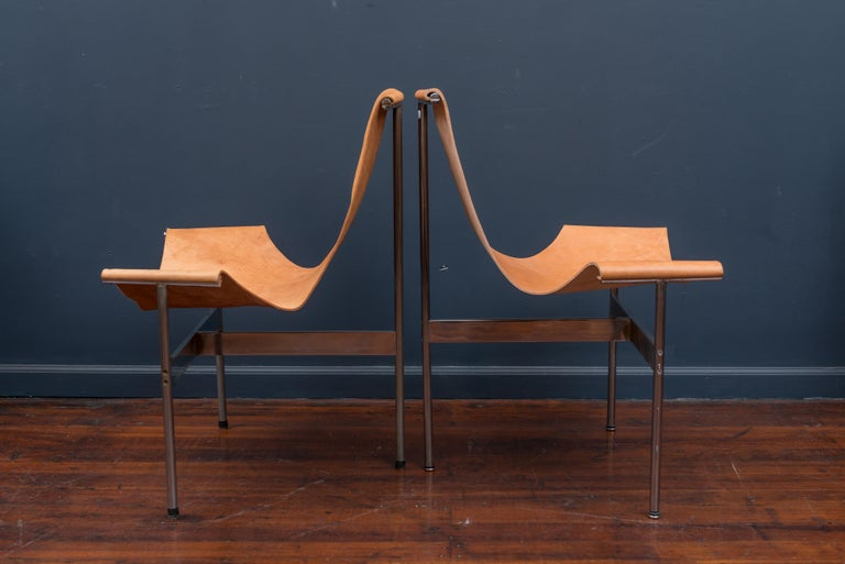 Mid-Century Modern Original Katavalos T-Chairs Model 3LC for Laverne International For Sale