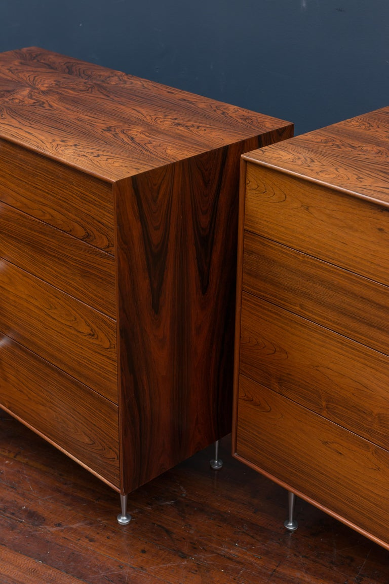 Mid-Century Modern George Nelson Rosewood Chests for Herman Miller For Sale