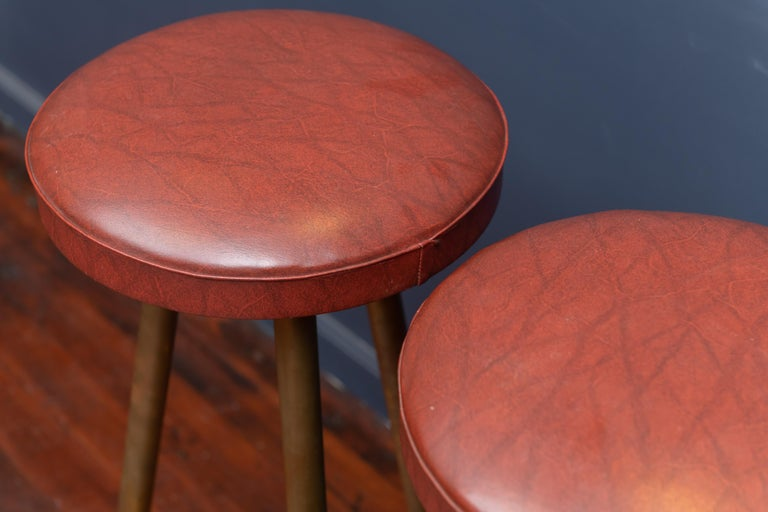Italian Brass Bar Stools In Good Condition For Sale In San Francisco, CA