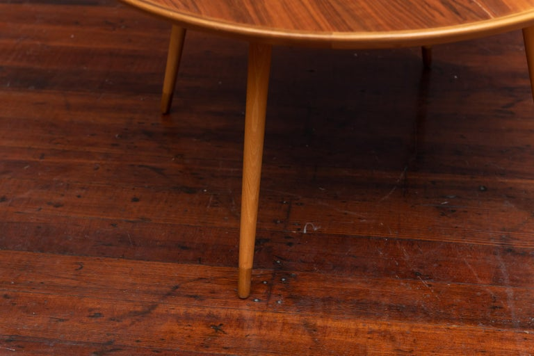 William Watting Round Danish Coffee Table In Excellent Condition For Sale In San Francisco, CA