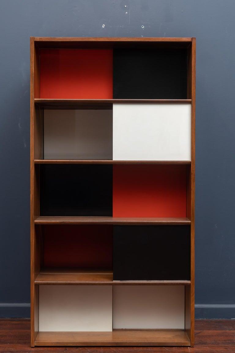 Walnut Evans Clark Room Divider or Bookshelf for Glenn of California For Sale