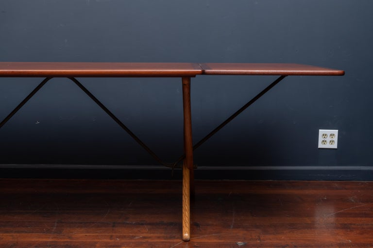Danish Hans Wegner Sabre Leg Dining Table Model AT-304 For Sale
