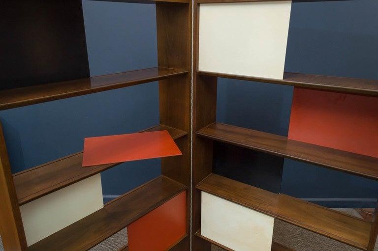 Room Divider or Bookcase by Evans Clark for Glenn 8