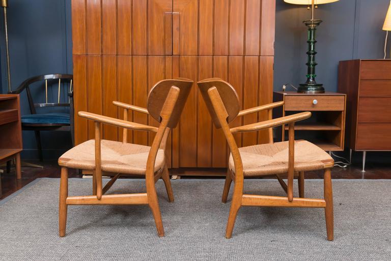 Hans Wegner Easy Chairs, Model CH 22 4