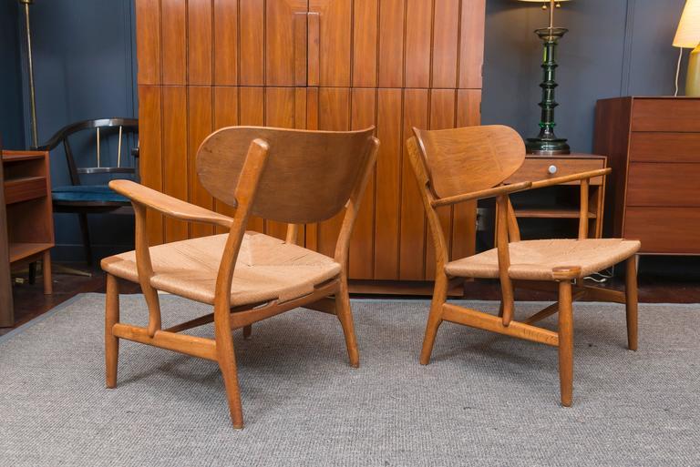 Hans Wegner Easy Chairs, Model CH 22 5
